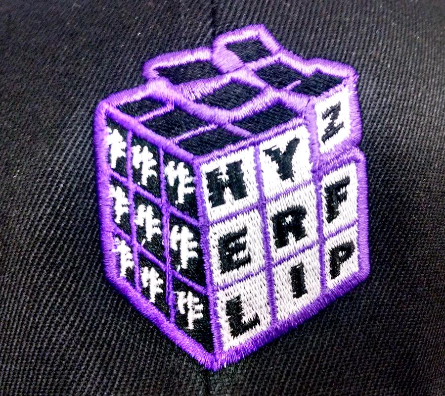embroidery hat logo closeup