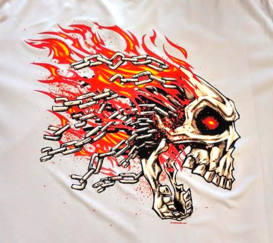 heat transfer vinyl chain skull shirt