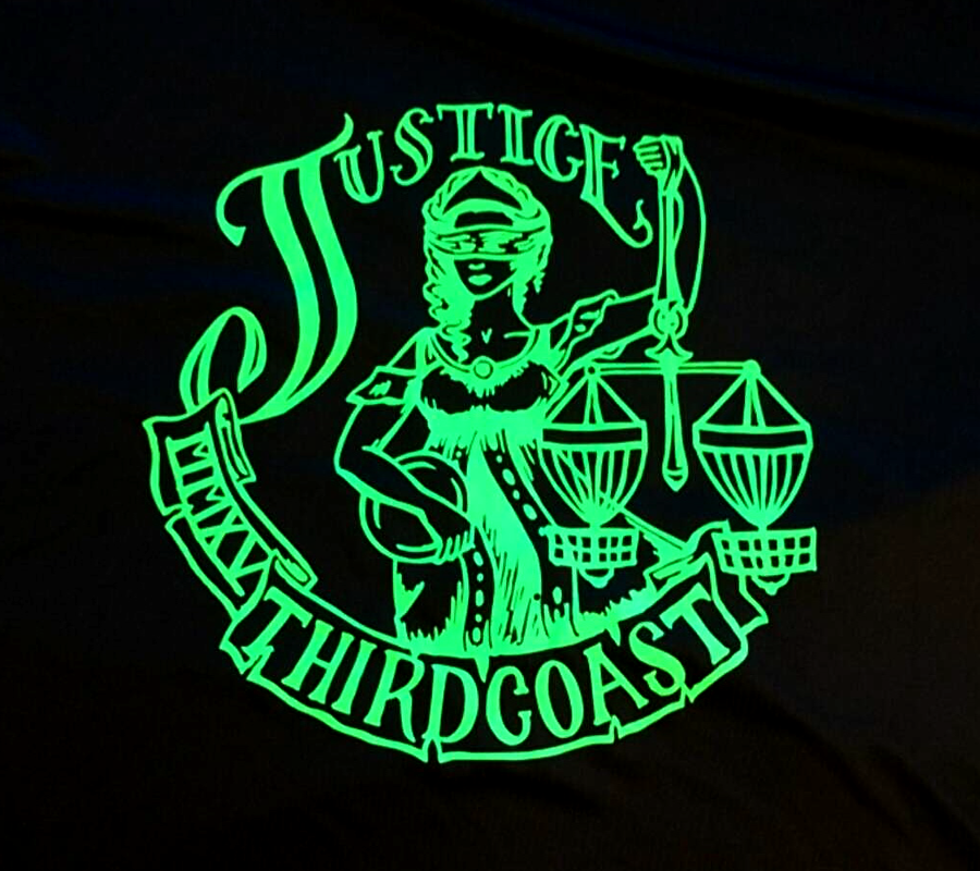 heat transfer vinyl third coast neon shirt