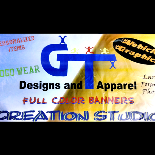 large format gt designs and apparel self promo banner