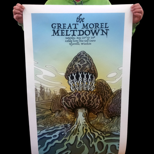 large formate the great morel meltdown poster